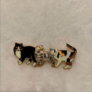 Jewelry - Cat pin trio